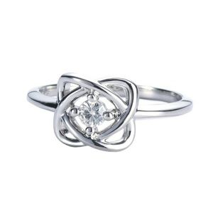 Forever Classic Round 3.25mm Moissanite Knot Ring